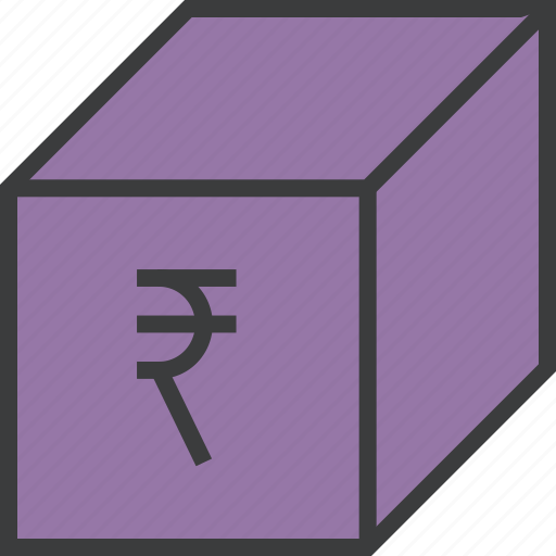 delivery, package, product, rupee, sale, shipping, shopping icon