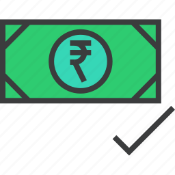 accept, approve, cash, confirm, currency, payment, verify icon
