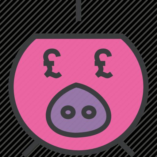 bank, banking, finance, piggy, pound, save, savings icon