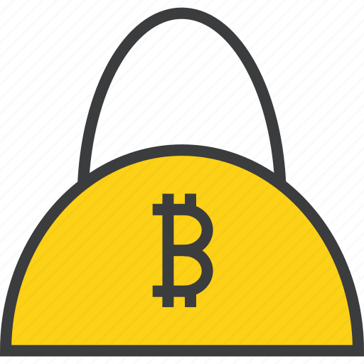 bag, bitcoin, buy, cash, digital, online, shopping icon