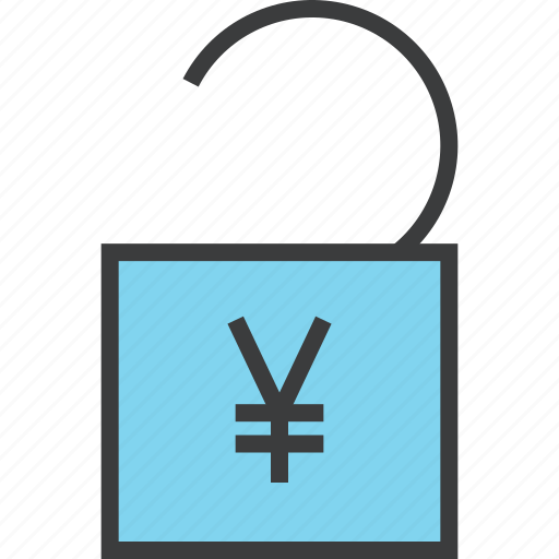 account, banking, business, funds, release, transaction, unlock icon
