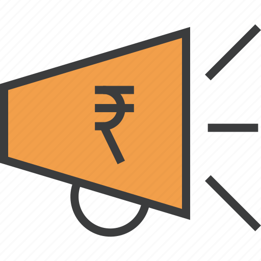 advertisement, campaign, finance, marketing, promotion, rupee, sales icon