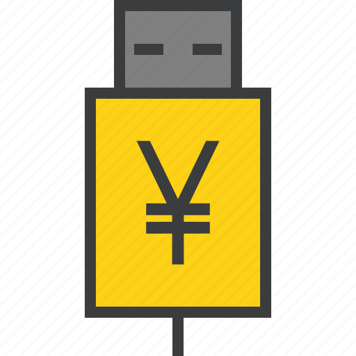 account, banking, interest, recharge, transfer, usb, yen icon