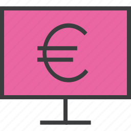 computer, ebanking, etrade, euro, finance, internet, online icon