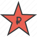award, credit, favorite, rate, reward, ruble, star icon