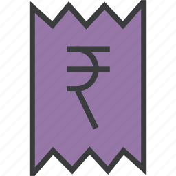 bill, business, finance, invoice, rupee, statement, trade icon