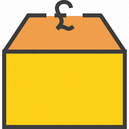funds, market, money, package, pound, product, supply icon