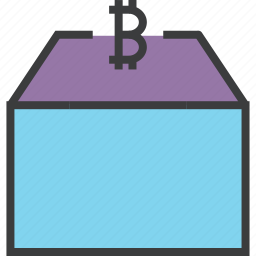 bitcoin, digital, money, online, package, product, shopping icon
