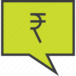 alert, balance, message, mobile banking, notification, rupee, transaction icon