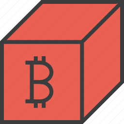 bitcoin, digital, online, package, product, sale, shopping icon