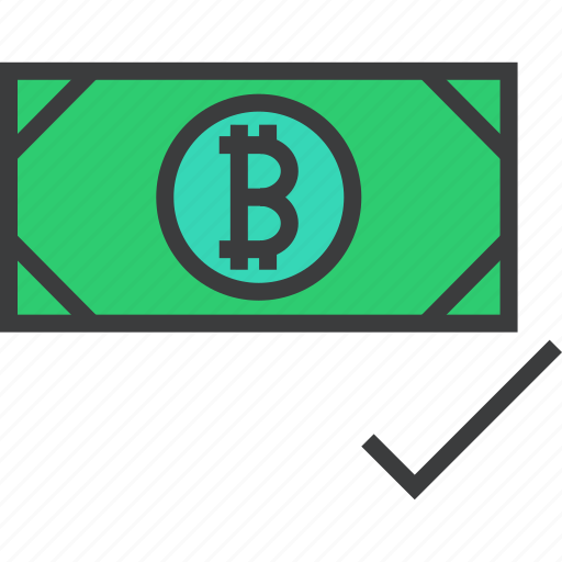 accept, accepted, bitcoin, currency, digital, online, payment icon