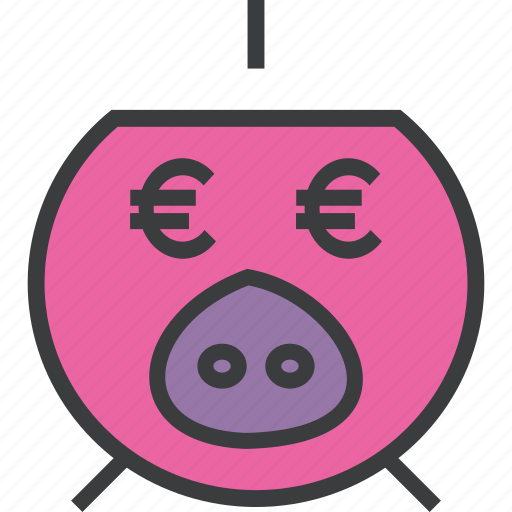 bank, banking, euro, finance, guardar, piggy, save, savings icon