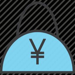 bag, balance, buy, cash, finance, shopping, yen icon