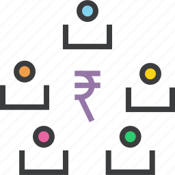 business, funds, rupee, shareholders, stakeholders, transaction, transfer icon