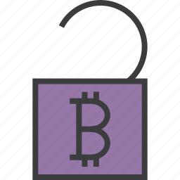 account, bitcoin, finance, release, trade, unlock, usage icon