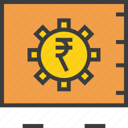 banking, locker, protection, rupee, safe, storage, vault icon