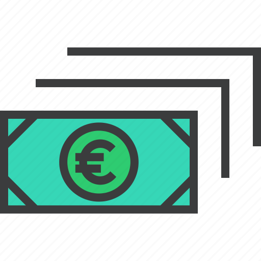 business, cash, currency, euro, finance, money, trade icon