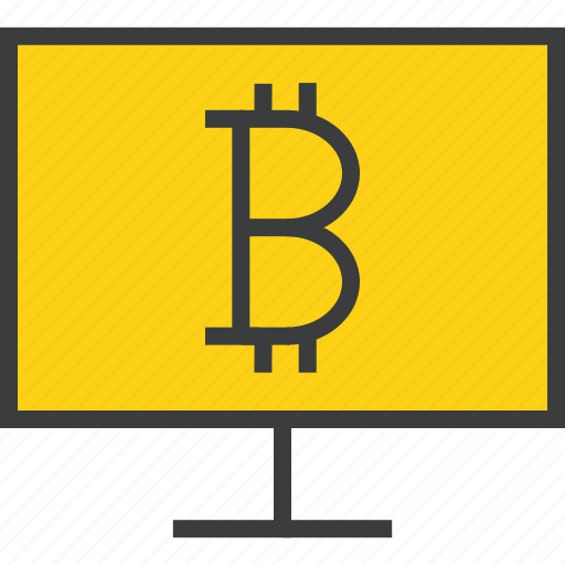 bitcoin, computer, electronic, etrade, finance, online, shopping icon