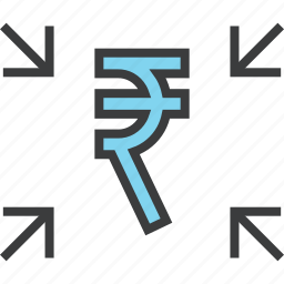 attract, cash, crowdfunding, funds, receive, rupee, transfer icon