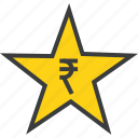award, credit, favorite, prize, reward, rupee, star icon