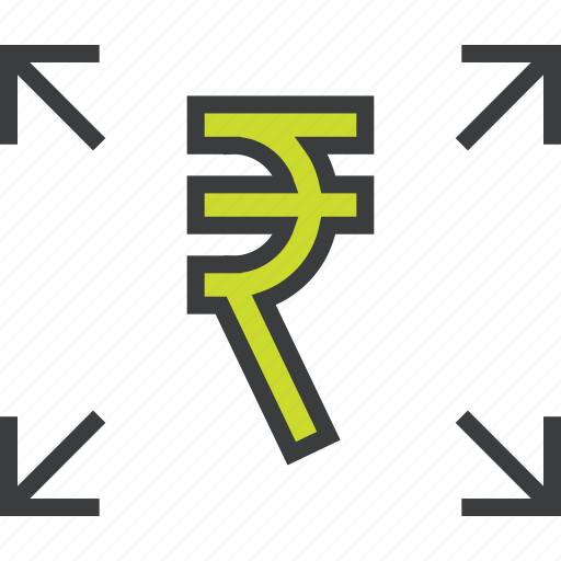 banking, distribute, funds, payment, rupee, send, transfer icon