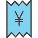 bill, business, finance, invoice, statement, trade, yen icon