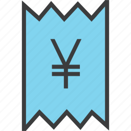 bill, business, finance, invoice, statement, trade, yen icon