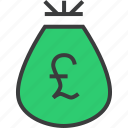 bag, cash, finance, money, pound, prize, reward icon