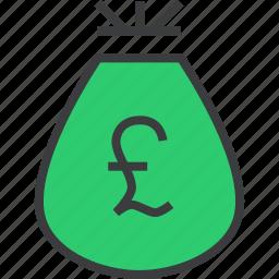 bag, cash, finance, money, pound, prize, reward icon