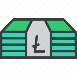 business, currency, digital, finance, litecoin, money, trade icon