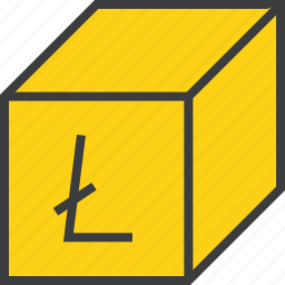 digital, litecoin, offer, online, package, product, sale icon