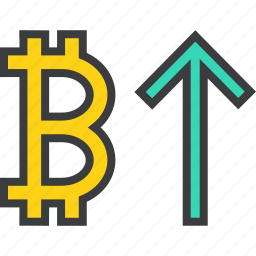 bitcoin, business, digital, finance, increase, usage, value icon