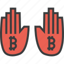 bitcoin, finance, online, payment, shopping, stop, usage icon