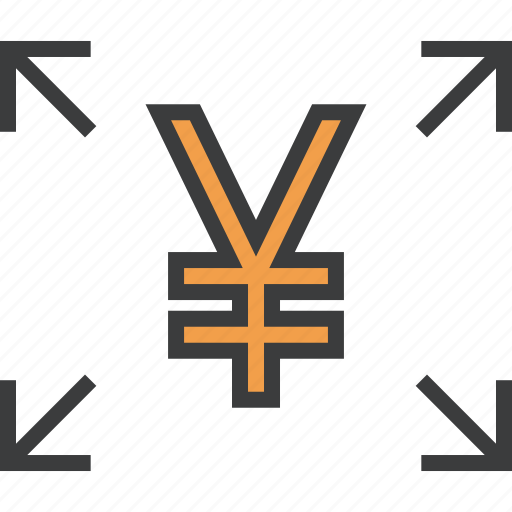 allocate, cash, flow, fund, share, transfer, yen icon