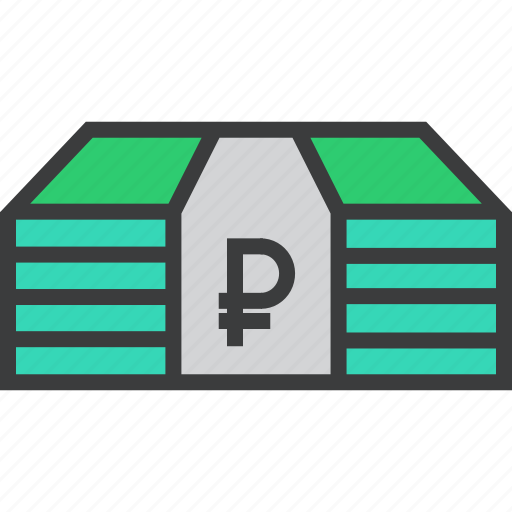business, cash, finance, funds, money, ruble, trade icon