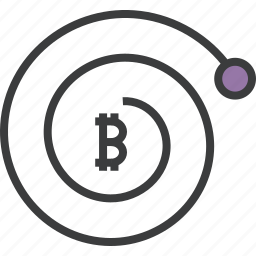 bitcoin, complexity, compund, finance, growth, interest, trade icon