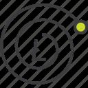 complexity, compund, finance, growth, interest, litecoin, trade icon