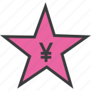 award, credit, favorite, rate, reward, star, yen icon