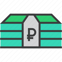 business, currency, finance, funds, money, ruble, trade icon