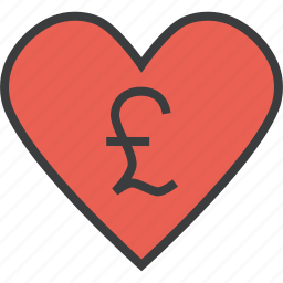 care, charity, donate, donation, love, pound, trust icon