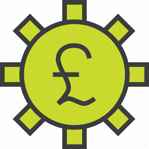app, banking, business, options, pound, settings, trade icon