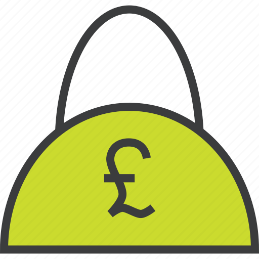bag, balance, cash, finance, pound, shopping, trade icon