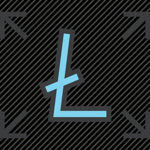 allocate, digital, litecoin, send, share, transaction, transfer icon