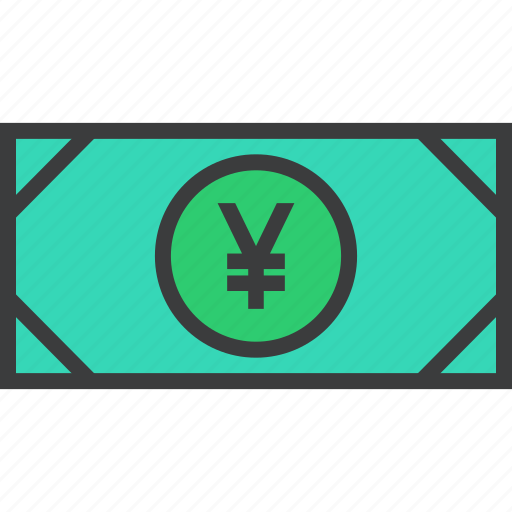 banking, business, cash, currency, finance, money, yen icon