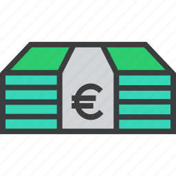 banking, business, cash, euro, finance, funds, money icon