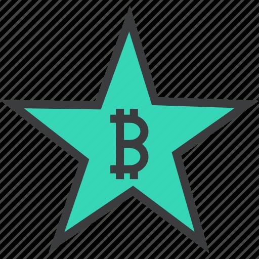 award, bitcoin, credit, favorite, rate, reward, star icon
