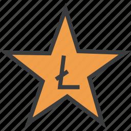 award, credit, favorite, litecoin, rate, reward, star icon