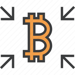 bitcoin, crowdfunding, digital currency, funds, get, receive, transfer icon