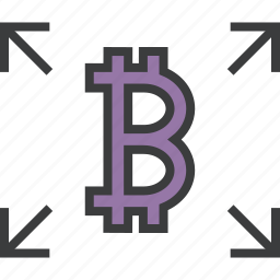 bitcoin, ecommerce, electronic currency, online, send, transaction, transfer icon