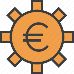 account, banking, business, euro, financial, options, settings icon